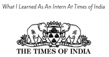 What I Learned As An Intern At Times of India