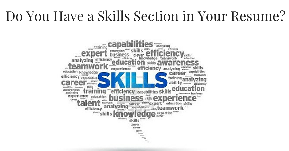 do you have a skills section in your resume ipleaders