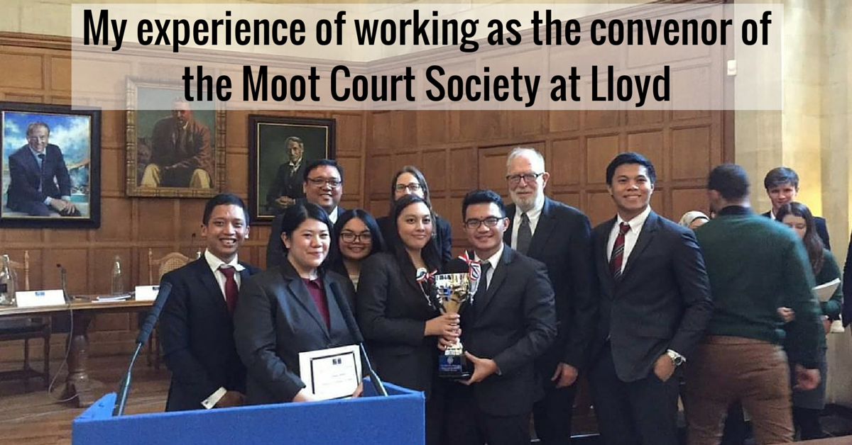 My experience of working as the convenor of the Moot Court Society at Lloyd