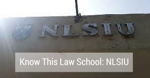 Know This Law School: NLSIU