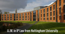 LL.M. in IP Law from Nottingham University