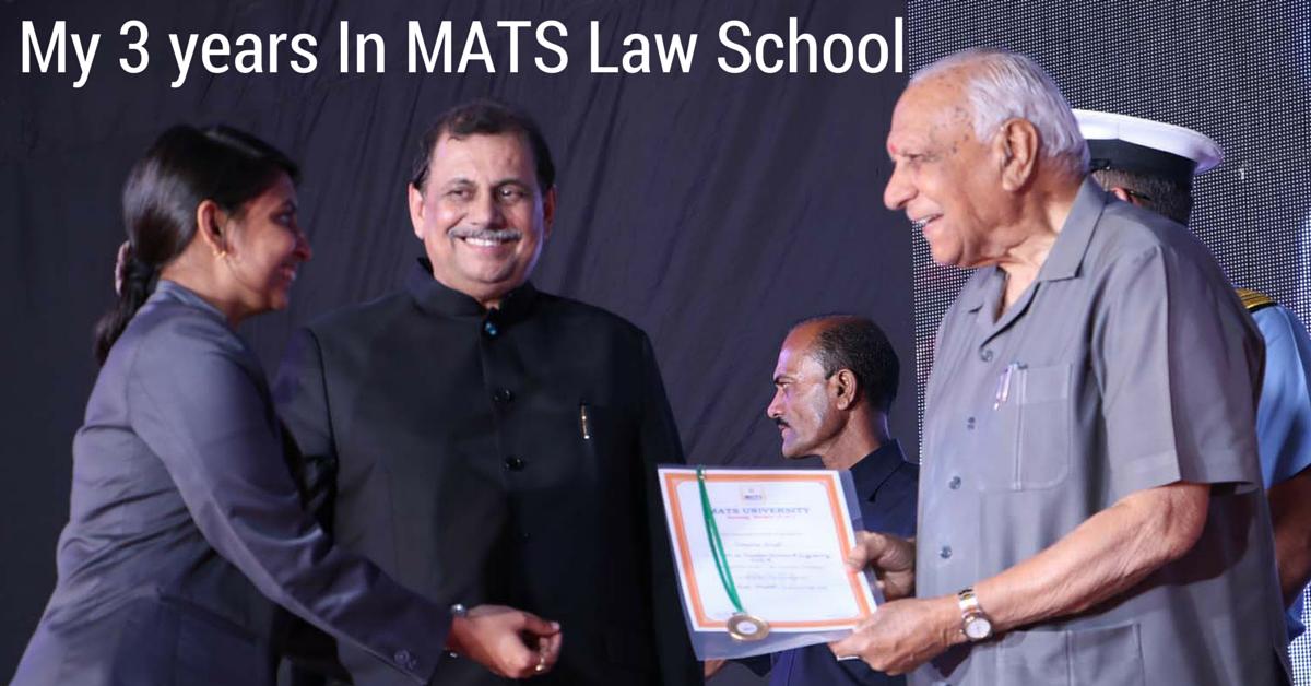 My 3 years In MATS Law School