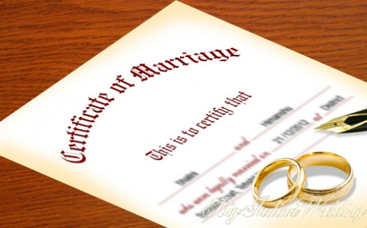 Registration of marriage