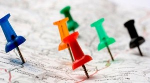 Thumbtack in a Road Map with a Selective Focus