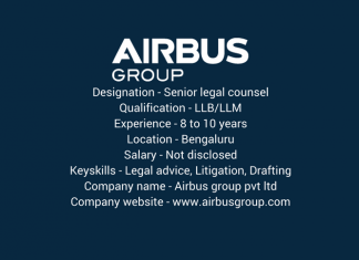 Job opportunity - Senior Legal Counsel - Airbus Group