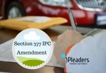 Section 377 IPC Amendment