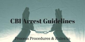 CBI Arrest Directions