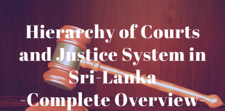 Hierarchy of Courts and Justice System in Sri Lanka: