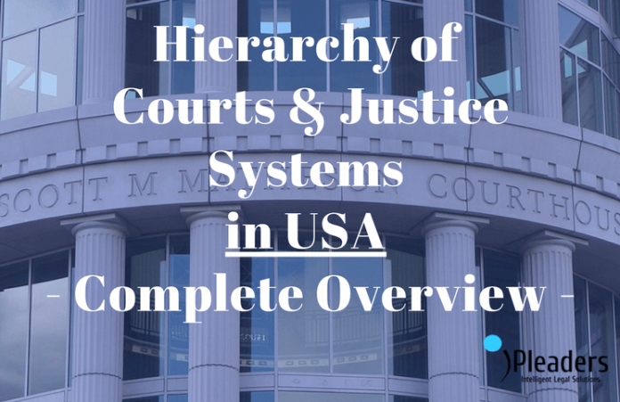 Hierarchy of Courts & Justice Systems in USA