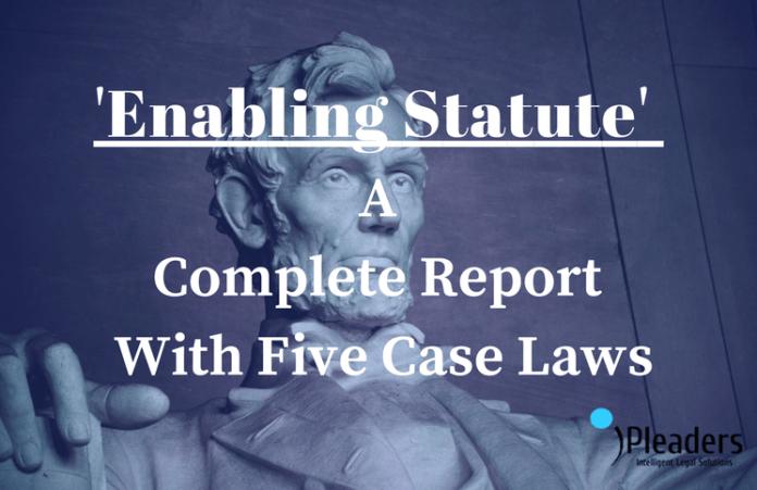 Enabling Statute- Complete Report