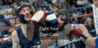 fight your own case in court