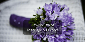 Jewish law of marriage & divorce