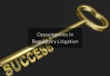 career in regulatory litigation