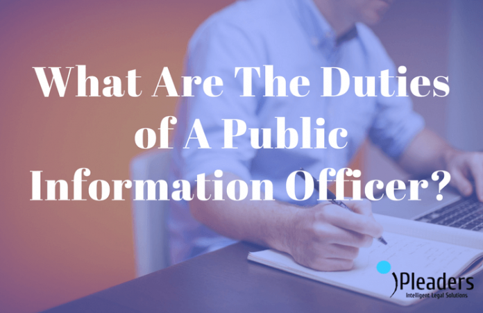 Duties of A Public Information Officer