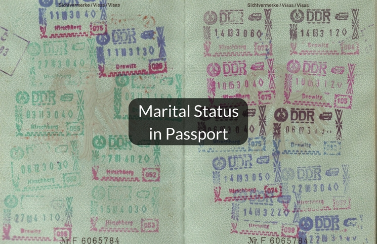 change of marital status in passport