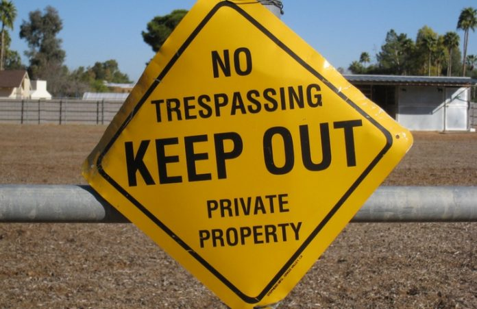 Encroachment upon private property