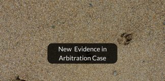 New evidence in arbitration case