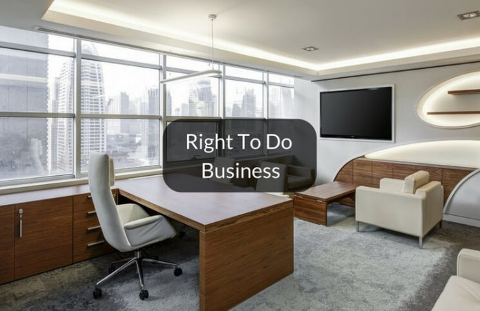 Right to do business