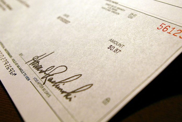 dishonor of cheques