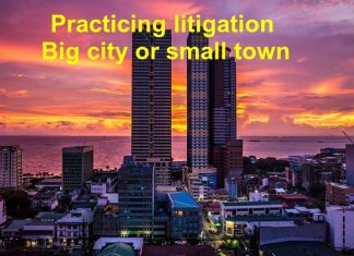 practicing litigation in a big city
