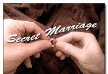 secret marriage