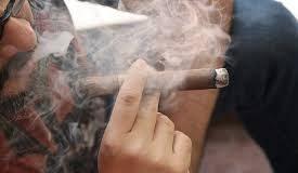smoking on