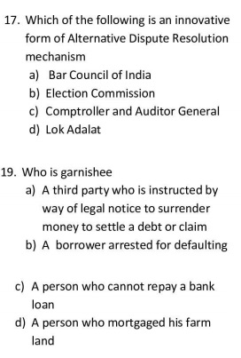 Bar council of India exam question paper - Pattern of Questions - AIBE