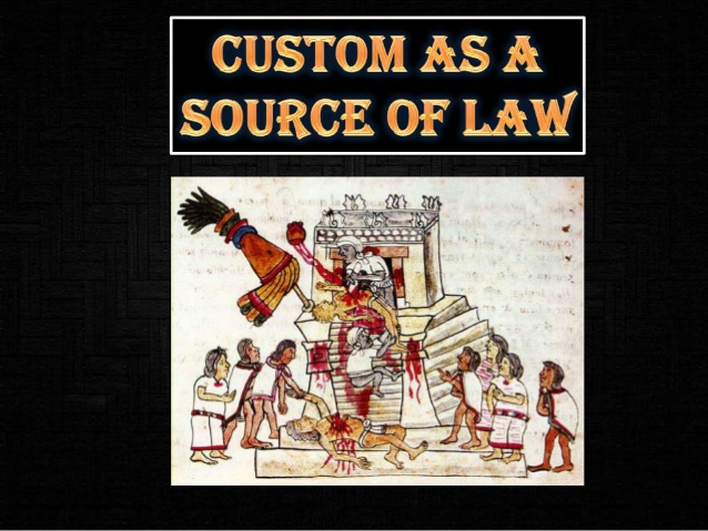 custom as a source of law in jurisprudence