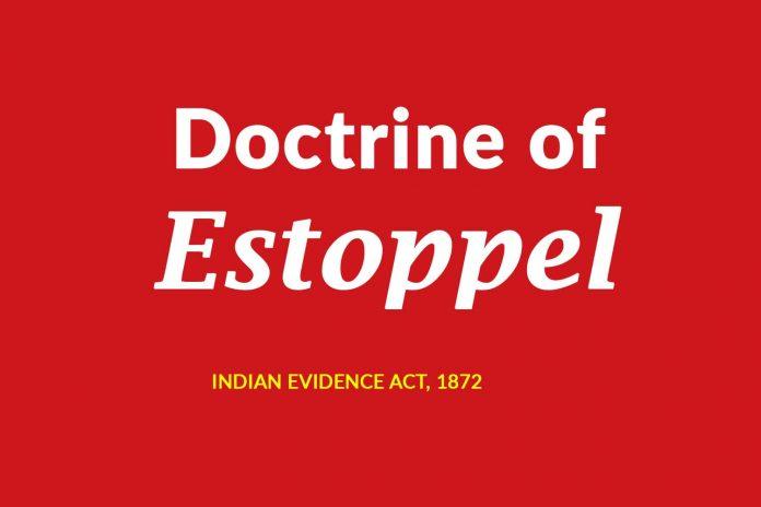 Estoppel meaning in law