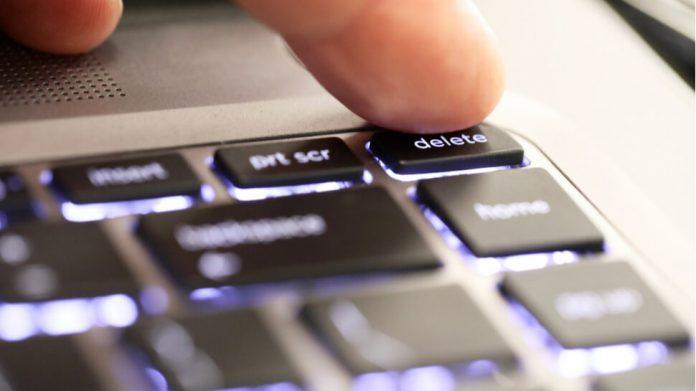 Erasing information online and laws