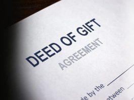 Gift deed