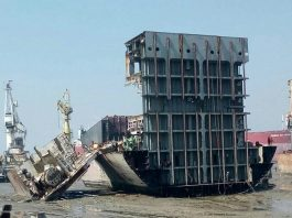 Ship breaking operations