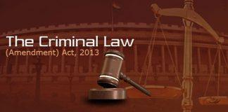 Criminal Amendment Act 2013