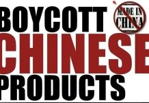 Boycott chinese goods
